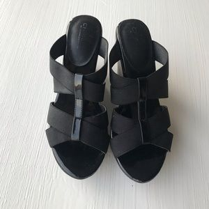 Charles by Charles David Black Wedges Sandals